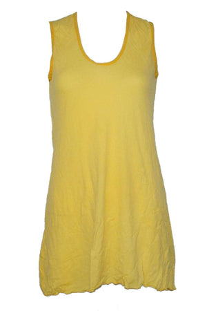 sleeveless A-line tunic in Yellow