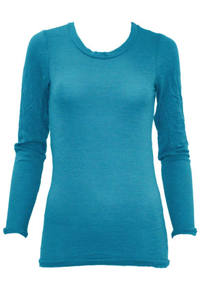 LONG SLEEVE SCOOP NECK W/ BANDS