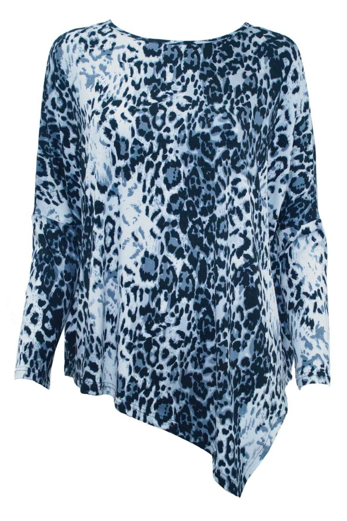 ANIMAL PRINT ASYMMETRICAL TOP