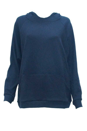 Hoodie with kangaroo pockets in Navy