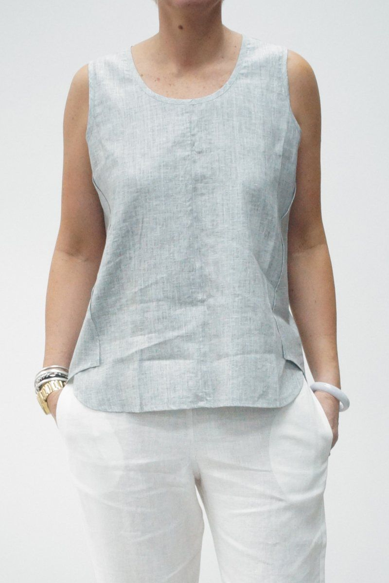Sleeveless Flared Top