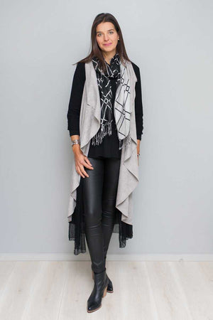 FAUX SUEDE 2 WAY CAPE