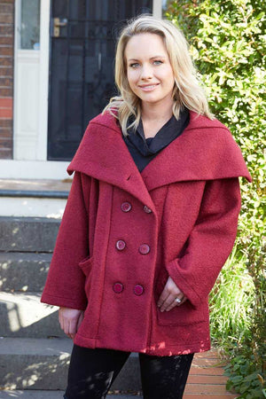 wool coat in Red