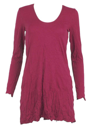 long sleeve A-line tunic in Pink