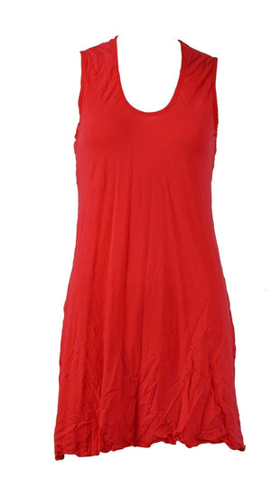 sleeveless A-line tunic in Red