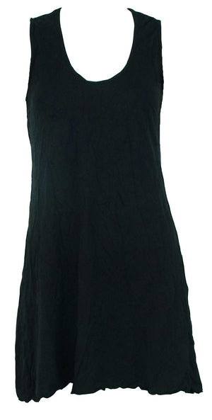 sleeveless A-line tunic in black