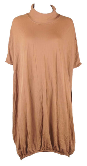 Skivvy neck throw over Nylon tunic