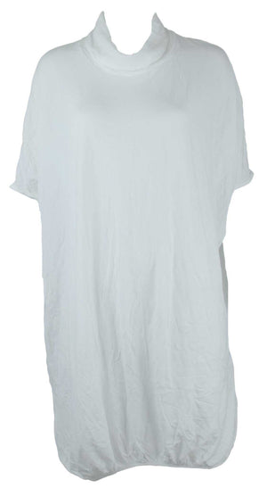 Skivvy neck throw over tunic in White