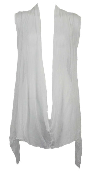 Open Mesh Closed Draped Vest