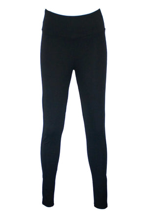 High waisted Ponte pant in Black