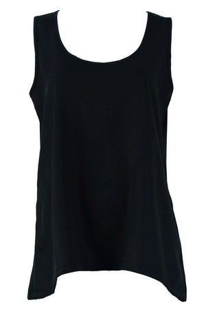 Tank with keyhole in Tencel Black