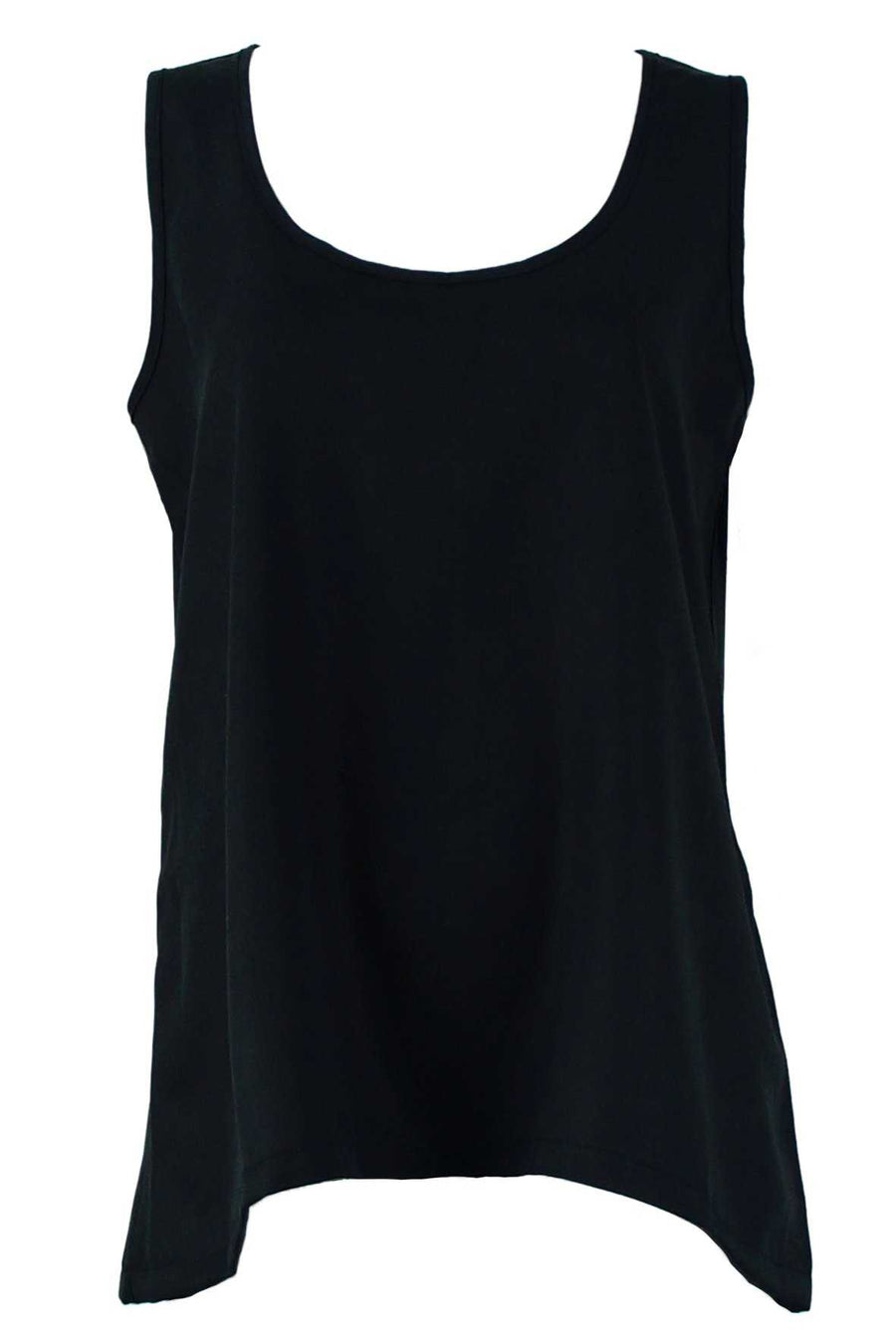 tank with keyhole in Tencel in Blue over Light Grey Viscose pants
