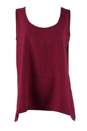 Tank with keyhole in Tencel Pink