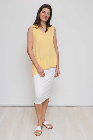 Bamboo Cotton Pencil Skirt