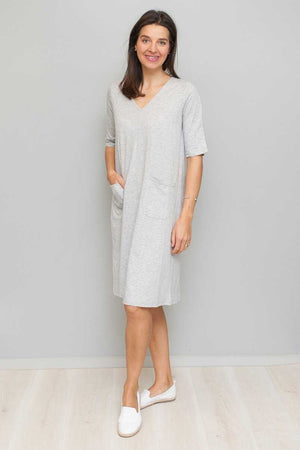 Organic Cotton V-neck Dress