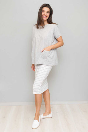 Organic Cotton Boxy Top with Pockets