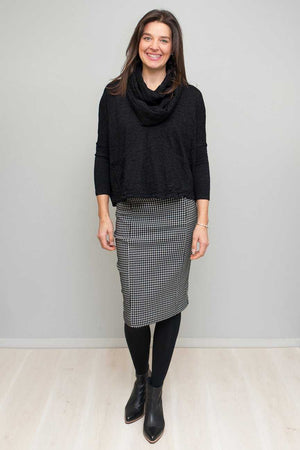 Jacquard Bengaline Pencil Skirt