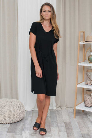 Bamboo Cotton V-neck Dress