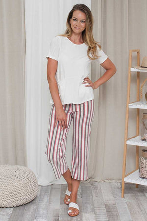 High Waisted Straight Leg Pant