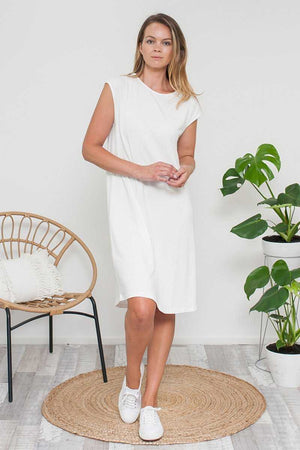 Bamboo Cotton Dress White