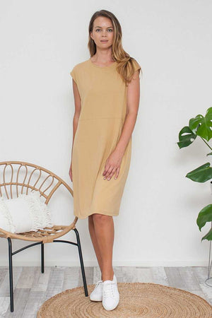 Bamboo Cotton Dress Yellow