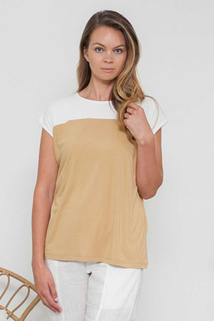BAMBOO COTTON SPLICED TOP