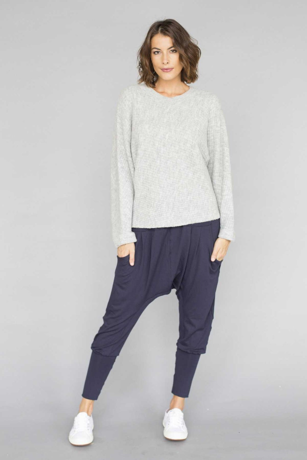 Rome jumper in light pink knit