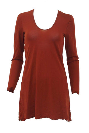 long sleeve A-line tunic