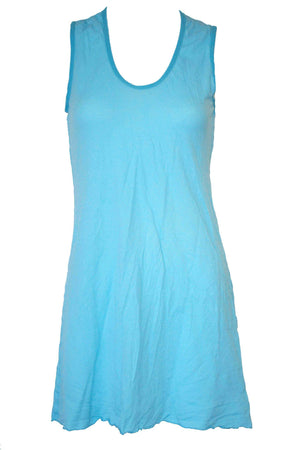 sleeveless A-line tunic in Aqua Blue