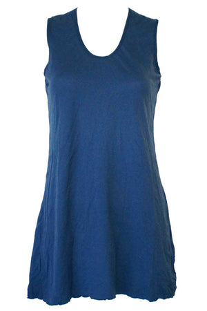 sleeveless A-line tunic in Blue