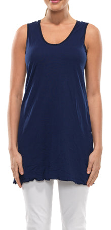 sleeveless A-line tunic in Navy