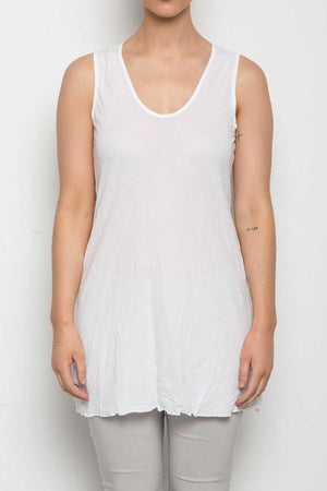 sleeveless A-line tunic in White