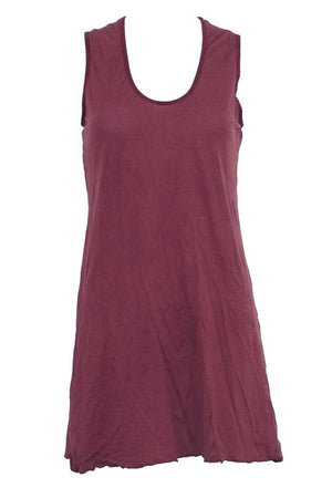 sleeveless A-line tunic in Wine