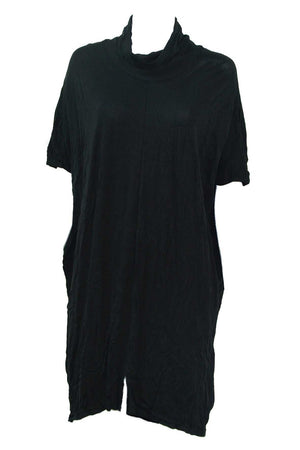 skivvy tunic w/ front splits in Black