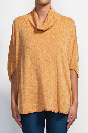 SLUB SKIVVY NECK CAPE