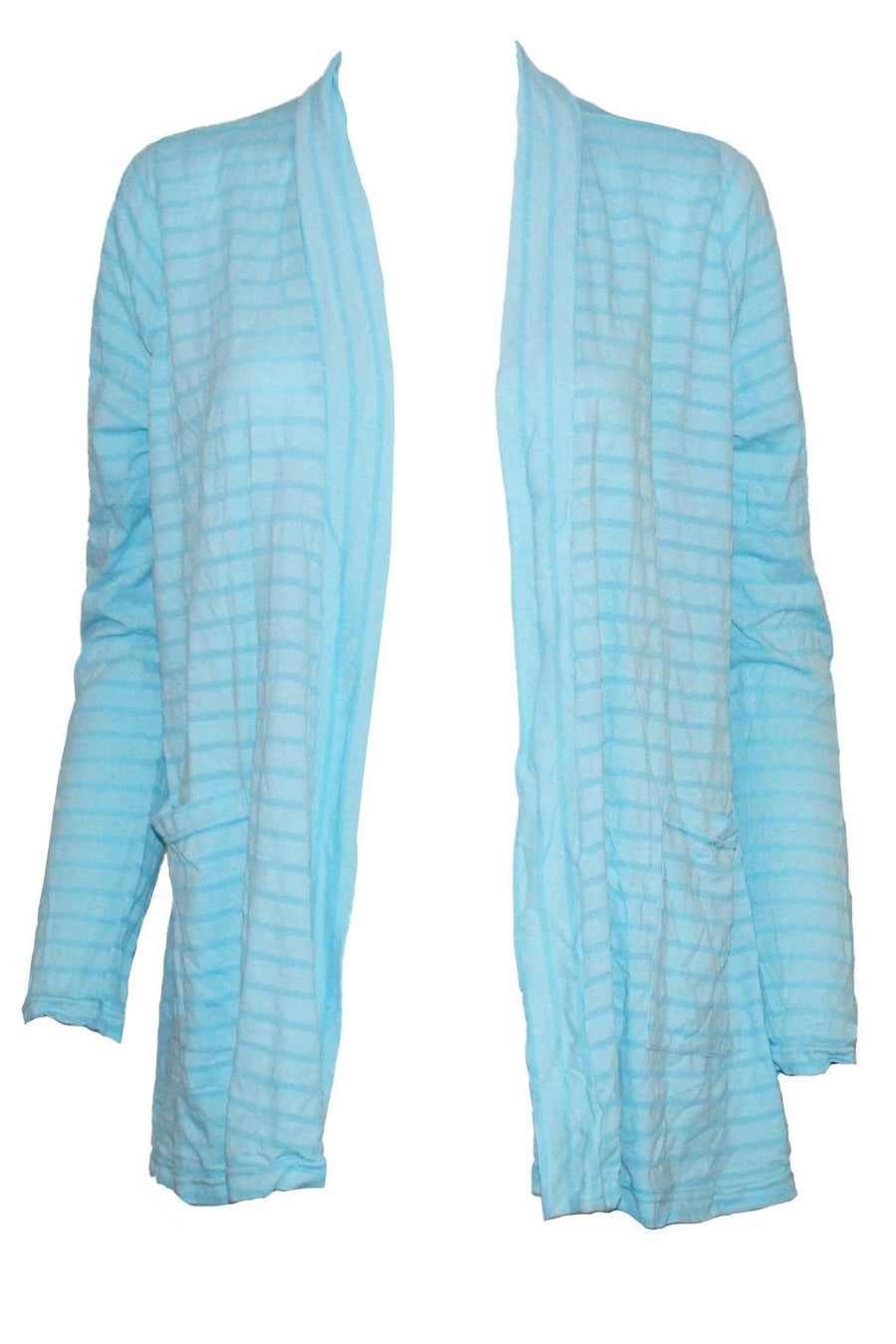 COTTON STRIPE CARDI WITH POCKETS
