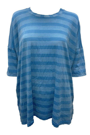Wide Stripe Boxy Tee