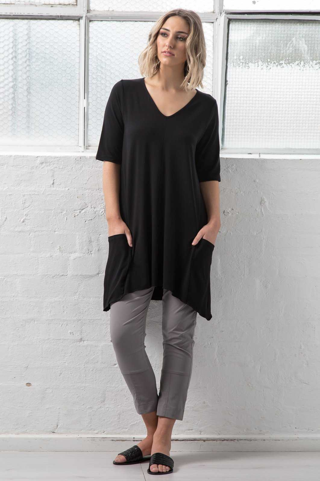 V-neck Short Slv Tunic