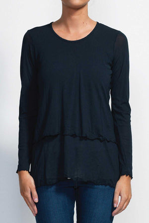 Mesh double layer top