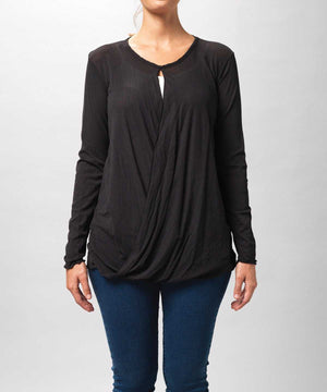 Drapey Long Sleeve Mesh Top