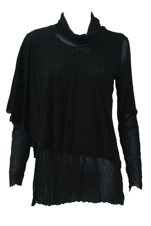 Double Layered Skivvy Top