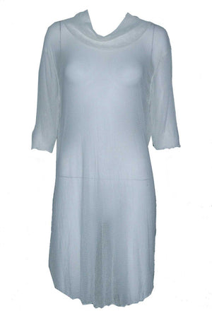 skivvy tunic in open mesh fabric
