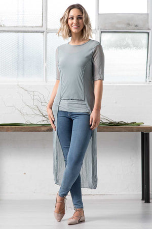 OPEN MESH/MESH LONG TOP
