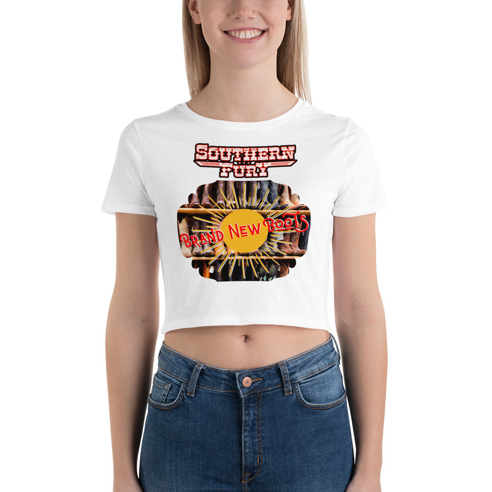 Southern Fury Brand New Boots Women's Crop Tee