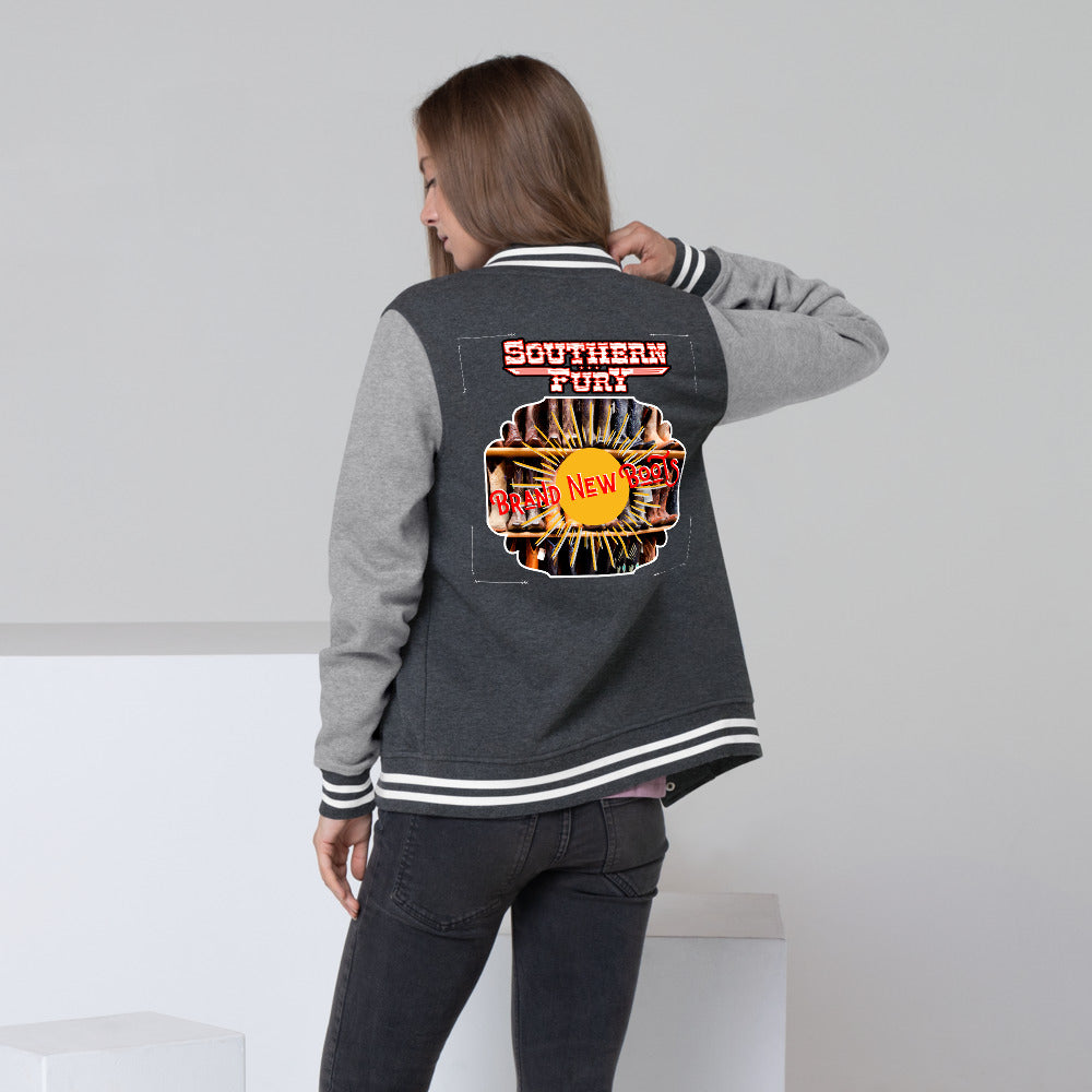 Southern Fury Brand New Boots Women's Letterman Jacket