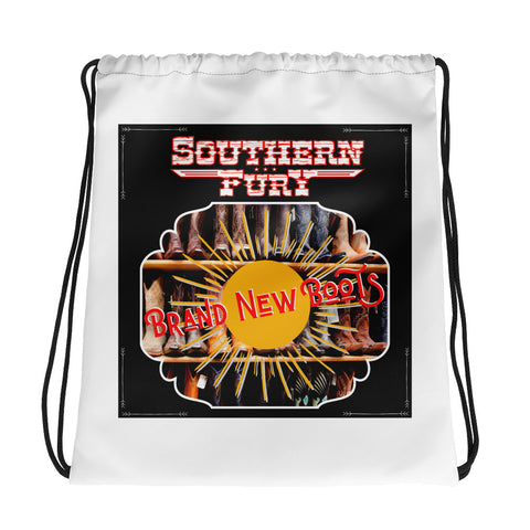 Southern Fury Brand New Boots Drawstring bag