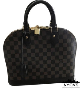 Louis Vuitton Alma New Pm Damier Ebene Canvas Shoulder Bag - NYC Vintage Shop