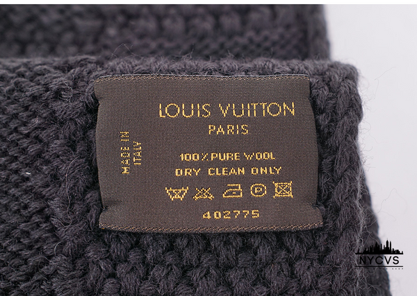 Louis Vuitton Damier Wool Knit Scarf - NYC Vintage Shop