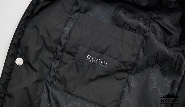 Gucci Stand Collar Quilted Nylon Jacket - NYC Vintage Shop