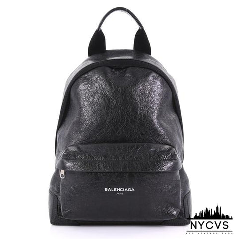 Balenciaga Black Leather Backpack - NYC Vintage Shop